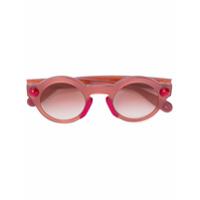 Christopher Kane Eyewear Óculos De Sol Arredondado - Pink & Purple