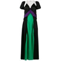Attico Vestido Longo 'carlotta' Color Block - Estampado