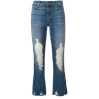 J Brand Calça Jeans Com Detalhes Desfiados - Azul