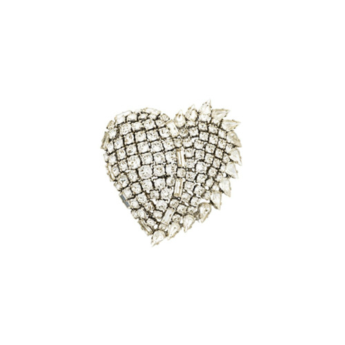 Imagem de Saint Laurent Broche 'Smoking Heart' - Metálico
