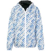 Adidas Originals By Alexander Wang Jaqueta De Matelassê Com Estampa De Logo Dupla Face - Azul