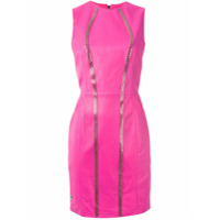 Philipp Plein Vestido Curto Evasê - Pink & Purple