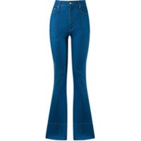 Amapô Calça Jeans Flare Cintura Alta - Azul