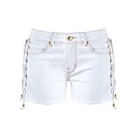 Amapô Short Jeans Com Amarração - Branco