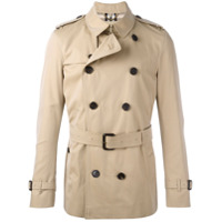 Burberry Trench Coat Com Cinto - Brown