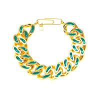 Aurelie Bidermann Bracelete 'waikiki' Com Banho Em Ouro 18K - Green