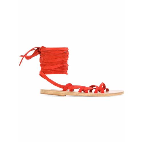 Imagem de Ancient Greek Sandals Sandália 'Simply Kariatida' de couro - Amarelo