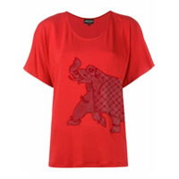 Emporio Armani Blusa Com Bordado - Vermelho