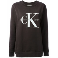 Ck Jeans Moletom Com Logo Estampado - Grey