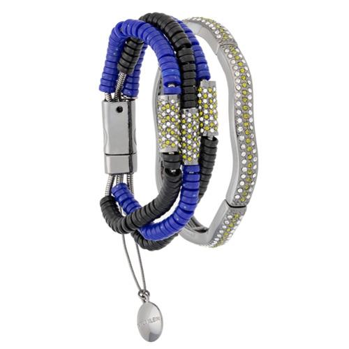 Imagem de Camila Klein Kit 2 pulseiras 'Millipede' - Metallic