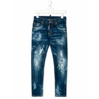 Dsquared2 Kids Calça Jeans - Azul
