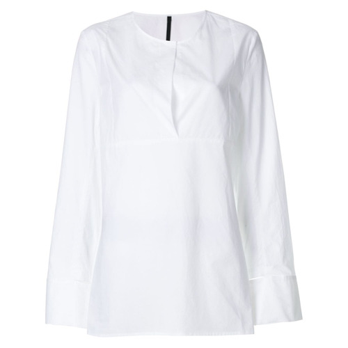 Sara Lanzi Camisa decote arredondado - Branco