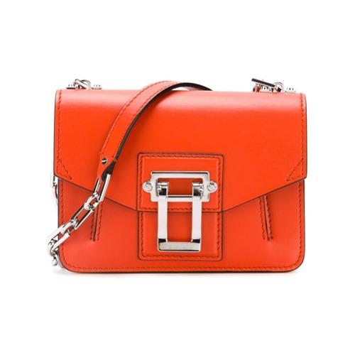 Bolsa de couro modelo 'Hava' laranja, Proenza Schouler. Possui forma retangular, parte superior dobrável com fecho de en...