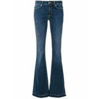 Dondup Calça Jeans Flare Com Efeito Desbotado - Azul