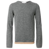 Comme Des Garçons Shirt Boys Suéter Decote Careca De Lã - Grey