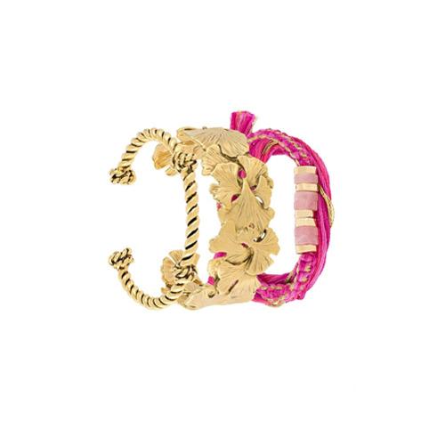 Imagem de Aurelie Bidermann Conjunto de pulseiras com banho de ouro - Grey