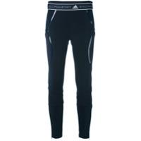 Adidas By Stella Mccartney Legging De Tricot 'run' - Azul