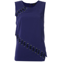 Alcaçuz Blusa Com Recortes - Azul