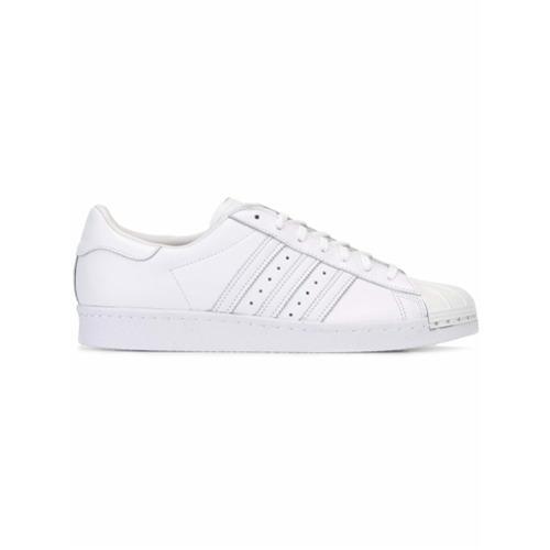 Imagem de Adidas Tênis de couro modelo 'Superstar 80's Metal Toe' - Branco