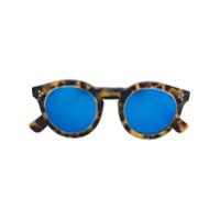 Illesteva Óculos De Sol 'leonard 2 Ring' Espelhado - Brown