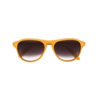 Cutler & Gross Óculos De Sol Retangular - Amarelo E Laranja