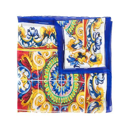Imagem de Dolce & Gabbana Lenço 'Signature' de seda - Estampado