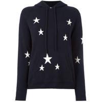 Chinti & Parker Suéter De Cashmere Com Estampa E Capuz - Azul