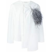 Christopher Kane Camisa Com Detalhe De Sobreposição - Branco