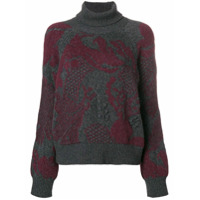 Barrie Suéter Em Cashmere Gola Alta - Cinza