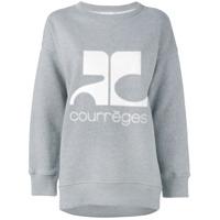 Courrèges Moletom Com Logo - Grey
