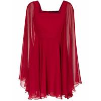 Reinaldo Lourenço Vestido Curto De Seda - Vermelho