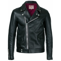 Addict Clothes Japan Jaqueta Biker De Couro - Preto