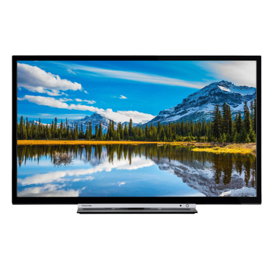 Toshiba 28 W3863 DA 71 cm (28 Zoll) Fernseher (HD ready, Smart TV, WLAN, Bluetooth, Triple Tuner (DVB T2), USB)