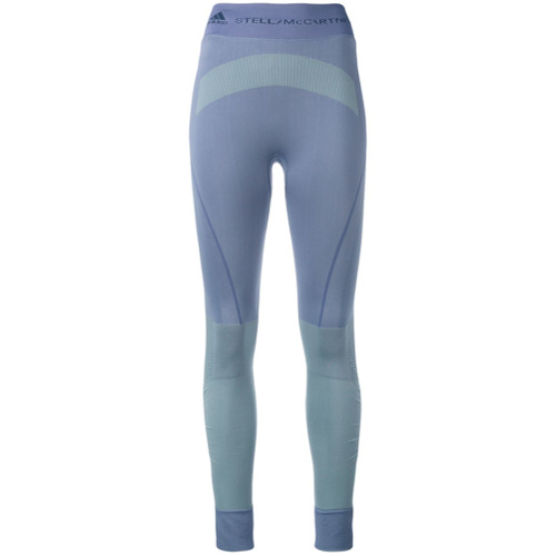 Adidas By Stella Mccartney Calça legging color block - Pink & Purple