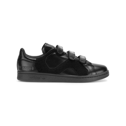 Adidas By Raf Simons Tênis de couro - Preto