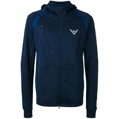 Adidas By White Mountaineering Jaqueta com capuz - Azul