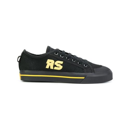 Adidas By Raf Simons Tênis de couro com cadarço - Preto