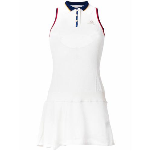 Adidas Vestido com contraste - Branco