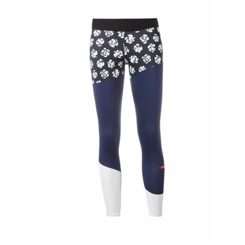 Adidas By Stella Mccartney Legging com estampa floral - Azul