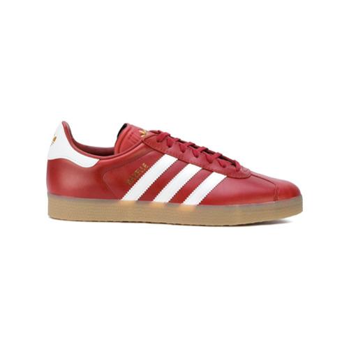 Adidas Tênis de couro 'Gazelle' - Vermelho