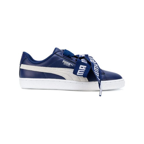 Puma Tênis de couro 'Baskets' - Azul