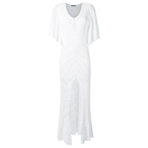 Canal Vestido longo de tricô - Branco