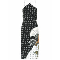 Farm Vestido Patch Flor - Preto