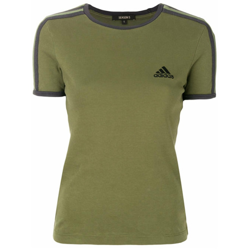 Adidas Yeezy Camiseta com patch de logo - Green