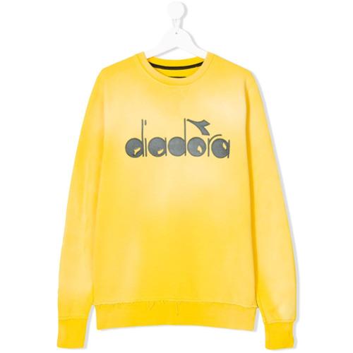 Diadora Junior Moletom com logo - Amarelo E Laranja