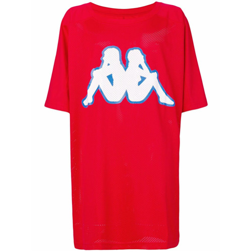 Faith Connexion Camiseta oversized com logo 'Kappa' - Vermelho