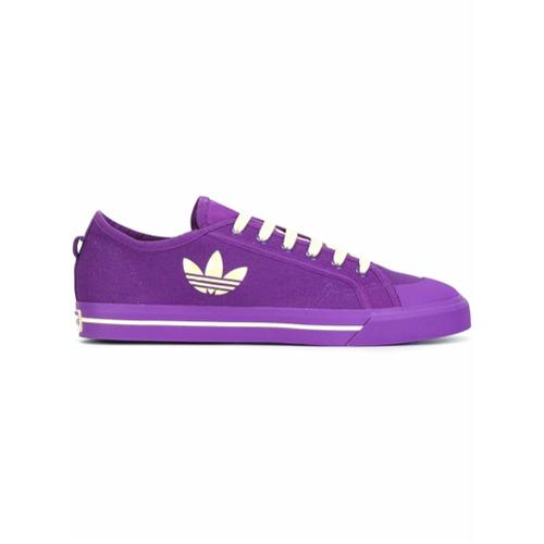 Adidas By Raf Simons Tênis de couro com logo lateral - Pink & Purple
