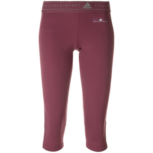 Adidas By Stella Mccartney Calça esportiva cropped - Pink & Purple