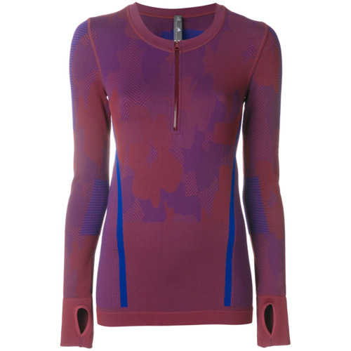 Adidas By Stella Mccartney Blusa color block slim - Estampado