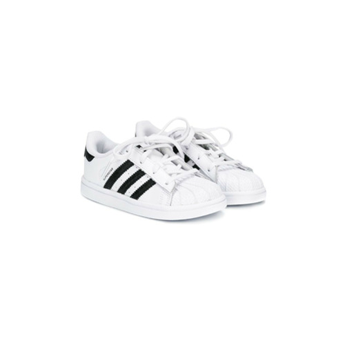 Adidas Kids Tênis de couro 'Superstar' - Branco